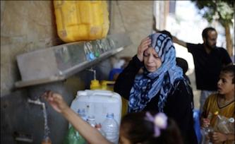 محرومیت دو میلیون نفر از مردم غزه از آب آشامیدنی