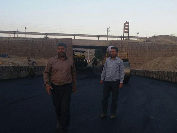 بهرهبرداری از پروژه آسفالت زیرگذر جاده روستای وادان دماوند