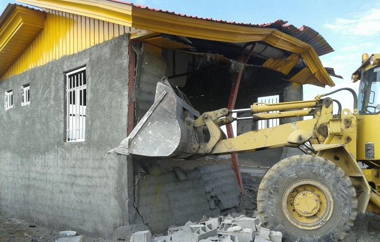 تخریب حدود ۲۰۰ مورد تغییر کاربری اراضی کشاورزی در روستای سیدآباد دماوند