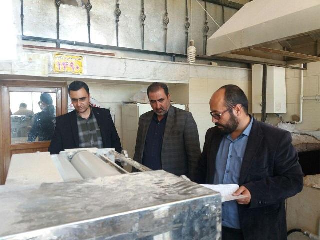پلمپ یک واحد نانوایی به علت کمفروشی و استعمال مواد مخدر در شهر آبسرد