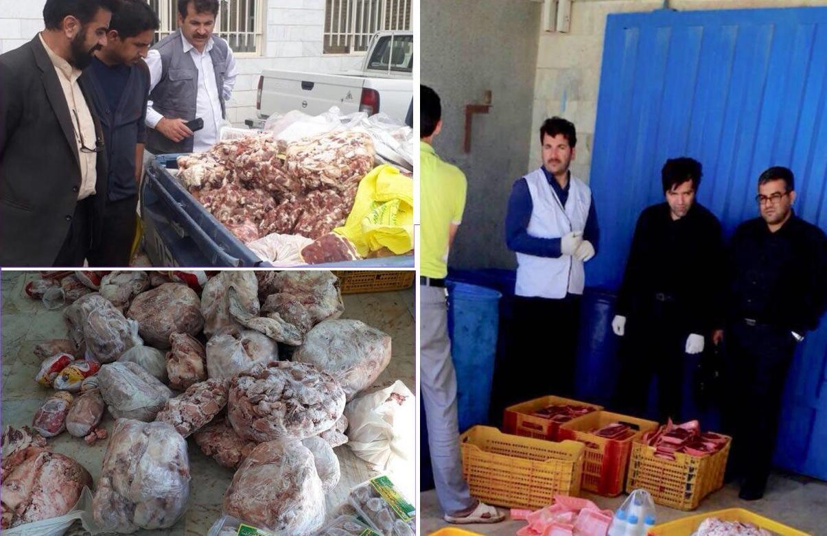 کشف و ضبط ۶۰۰ کیلوگرم مواد غیرقابل مصرف از مراکز عرضه گوشت و مرغ در منطقه گیلاوند