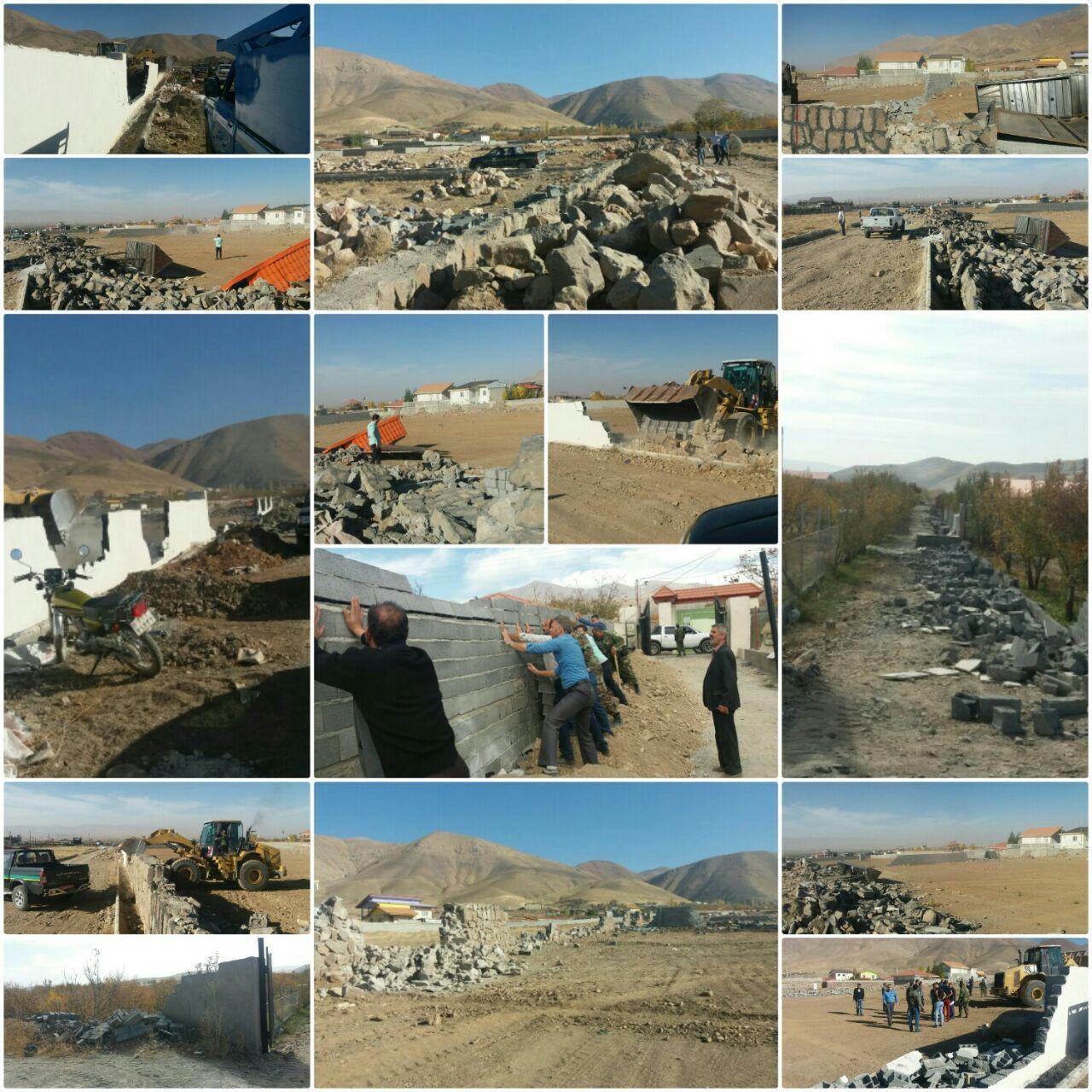 آزادسازی ۱۸ هکتار از اراضی کشاورزی در روستای جابان دماوند/ تخریب ۴۲ فقره ساخت و ساز غیرمجاز
