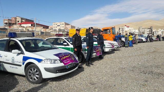 برگزاری مانور امدادی و خدماتی شهرداری دماوند ویژه طرح زمستان سال ۹۶/ آمادگی ۸۰ دستگاه خودرو برفروب و امدادی در شهر دماوند