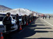 برگزاری رزمایش ترافیکی طرح زمستانی سال ۹۶ در محل پیست اسکی آبعلی