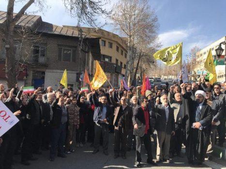 راهپیمایی مردم شهرستان دماوندنسبت به محکومیت اغتشاشات اخیر