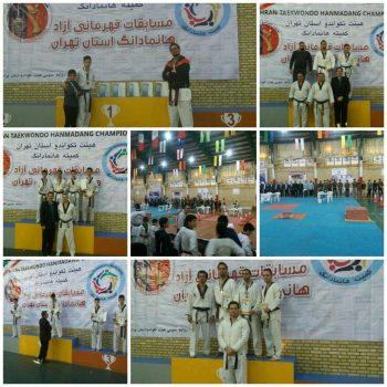 کسب ۵ مدال طلا و برنز توسط تکواندوکاران شهرستان دماوند در مسابقات آزاد قهرمانی هانمادانگ  استان تهران