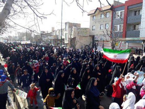 راهپیمایی یومالله ۲۲ بهمن در شهر آبسرد برگزار شد