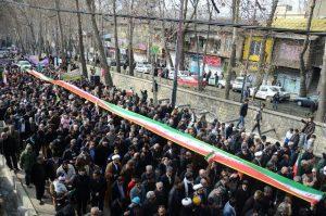 راهپیمایی یومالله ۲۲ بهمن در شهرستان دماوند برگزار شد
