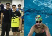 شناگر نوجوان رودهنی در مسابقات کشوری رکورد ۵۰ متر کرال پشت را شکست