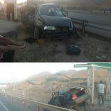 واژگونی سواری پراید در محور فیروزکوه-دماوند محدوده دوراهی روستای آرو/ این حادثه یک فوتی و ۴ مصدوم برجای گذاشت