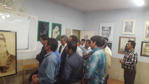افتتاح نمایشگاه هنرهای تجسمی هنرمندان مهاجر افغانستان در دماوند