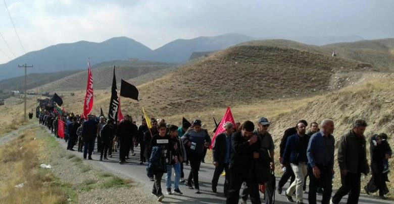 پیاده روی جاماندگان اربعین زیارت کیلان دماوند