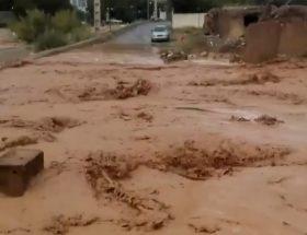 وقوع سیلاب در جادههای بین مزارع روستای مغانک دماوند/ پاکسازی مسیرهای عبور سیلاب در دستور کار است