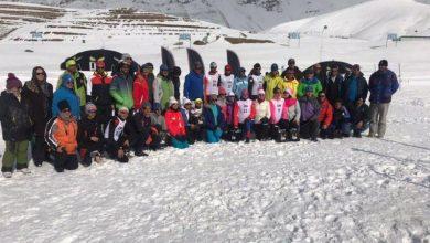 تصویر از برگزاری رقابتهای لیگ بینالمللی اسکی صحرانوردی در پیست کلوپ نور امامزاده هاشم دماوند