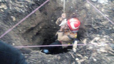 تصویر از سقوط فردی به داخل چاه ۱۲ متری در روستای سربندان دماوند/ نجات جان فرد سقوط کننده با تلاش عوامل آتشنشانی آبسرد و سربندان