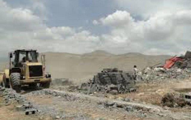 تخریب ساخت وساز غیر مجاز در وادان دماوند