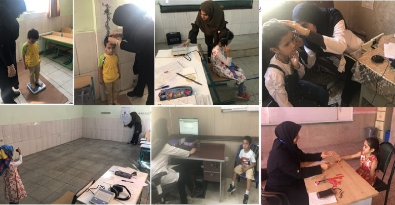 معاینات و سنجش 4000 نفر نوآموز در دماوند و رودهن برای سال تحصیلی 99 -98
