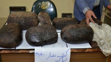 تصویر از فرمانده انتظامی شهرستان دماوند خبر داد؛  کشف ۳۷ کیلوگرم مواد مخدر از یک دستگاه موتور سیکلت در آبسرد