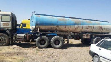 تصویر از مدیر امور منابع آب دماوند:  توقیف یک دستگاه تریلر آب فروشی در حوالی روستای آیینهورزان دماوند
