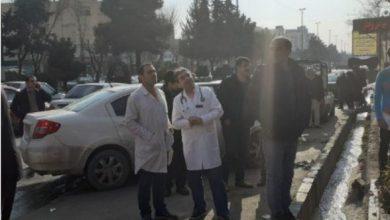 تصویر از حادثه حریق در طبقه فوقانی درمانگاه نکو شهر رودهن