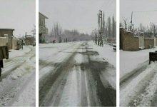 تصویر از عملیات نمکپاشی و برفروبی معابر شهر کیلان توسط عوامل شهرداری