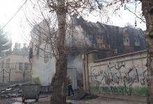 تصویر از حریق در کاروانسرای قدیمی شهر دماوند + تصاویر