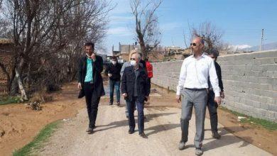 تصویر از بازدید فرماندار دماوند از اقدامات انجام شده به جهت مهار سیلاب در روستای اتابک