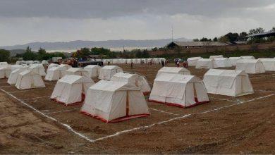 تصویر از تجهیز و آماده سازی اردوگاه اسکان اضطراری دماوند + تصاویر