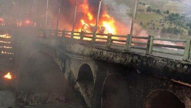 تصویر از واژگونی خودرو حامل سوخت علت اختلال خطوط تلفن همراه اول در شرق استان تهران
