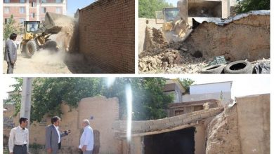 تصویر از اجرای طرح بازآفرینی و تخریب بافت فرسوده در محله مرانک شهر آبسرد