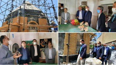 تصویر از بازدید مسئولان شهرستان دماوند از روند بازسازی بقعه امامزادگان محله ساران شهر کیلان