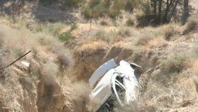 تصویر از سقوط یک دستگاه خودروی ال ۹۰ به دره در محدوده قلعه حاج عسگر شهر کیلان