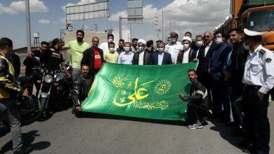 تصویر از کارناوال موتوری به مناسبت گرامیداشت عید غدیر در شهر آبسرد