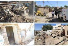تصویر از اجرای طرح بازآفرینی و تخریب بافت فرسوده در محله تاسکین شهر آبسرد