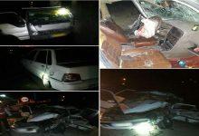 تصویر از تصادف کامیونت با ۲ خودرو سواری در جاده صالحآباد دماوند ۵ نفر مصدوم برجای گذاشت