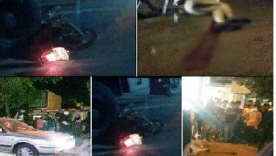 تصویر از فوت راکب موتورسیکلت بر اثر تصادف با کامیون در شهر آبسرد