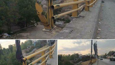 تصویر از بیتوجهی مسئولان نسبت به وضعیت نا ایمن هندریلهای پل شلمبه در محور دماوند – فیروزکوه