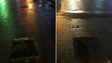 تصویر از گلایه شهروندی از وضعیت چالههای حفاری شده در خیابان ۲۰ متری شهرک مهک منطقه گیلاوند
