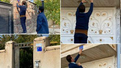 تصویر از دهیار روستای بیدک:  نصب ۹۰۰ پلاک بر درب واحدهای مسکونی و تجاری در روستای بیدک دماوند