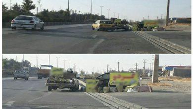 تصویر از گزارش شهروندی از خطرات حوادث جادهای دستفروشان جاده در محور دماوند به سمت تهران